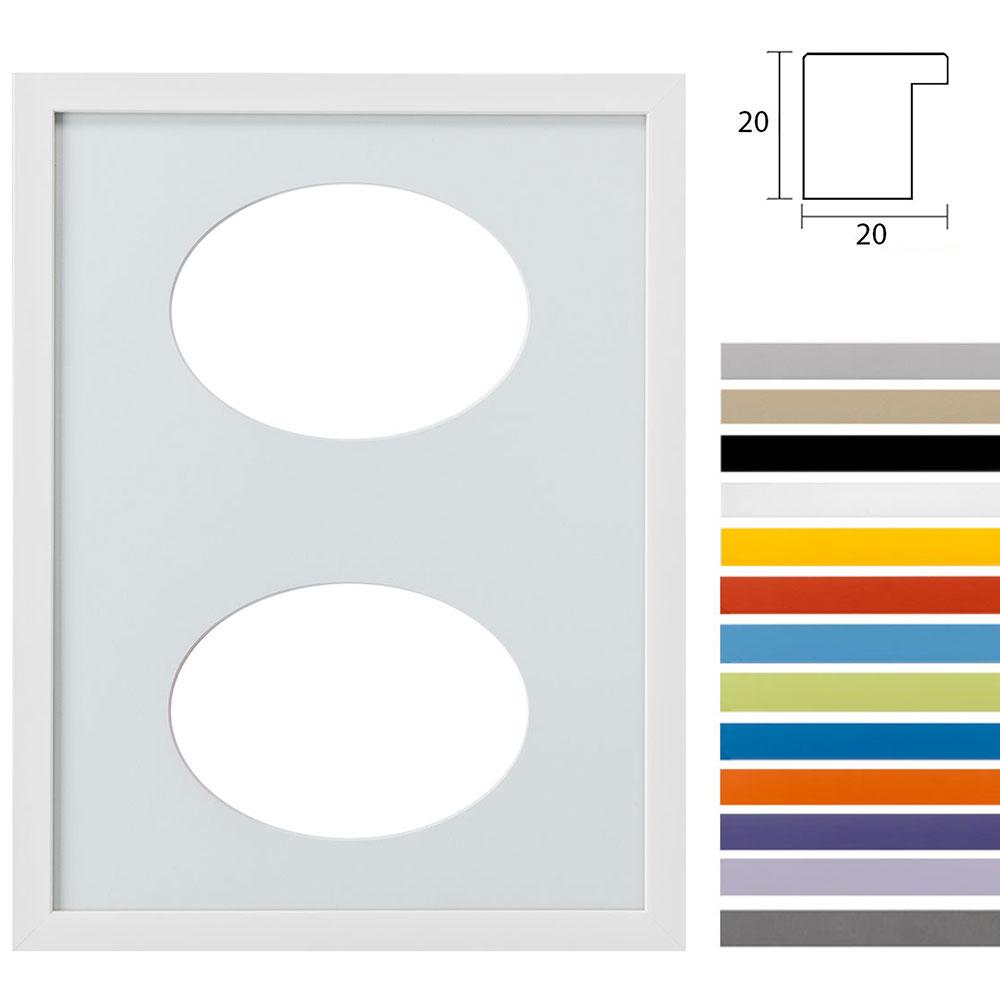 2er Galerierahmen Top Cube in 30x40 cm Ovalausschnitt