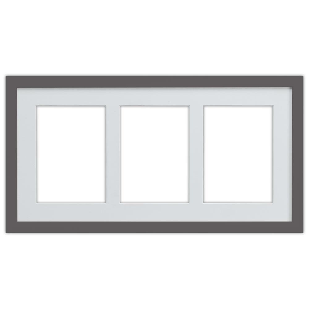3er Galerierahmen Top Cube in 25x50 cm platin