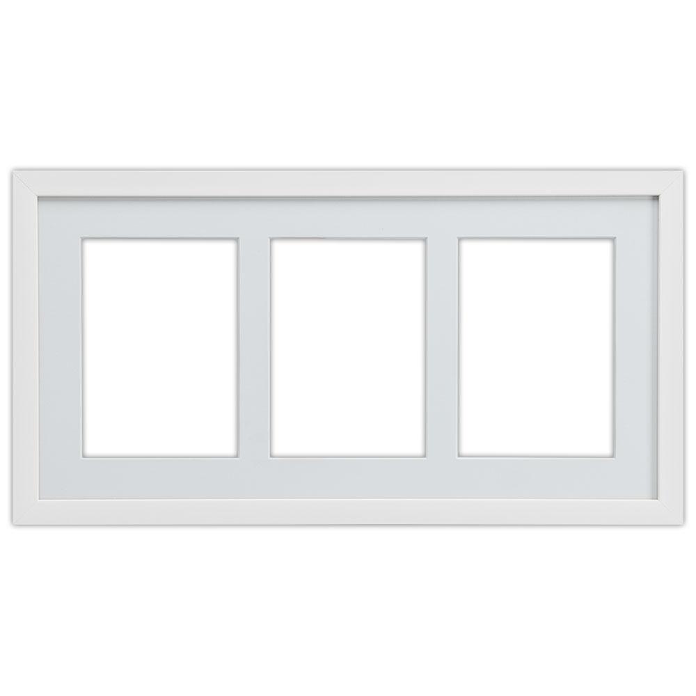 3er Galerierahmen Top Cube in 25x50 cm weiß