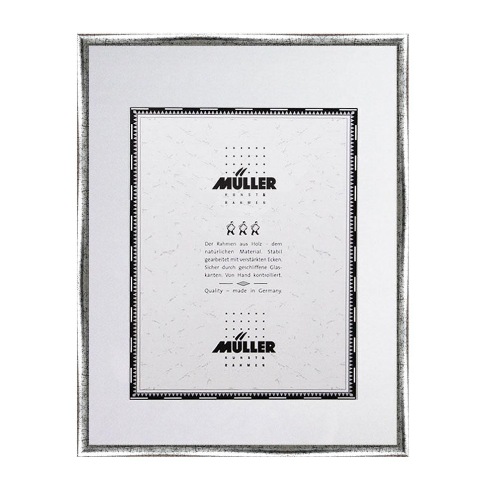 müller bilderrahmen holz-bilderrahmen hessen 10,5x15 cm - silber