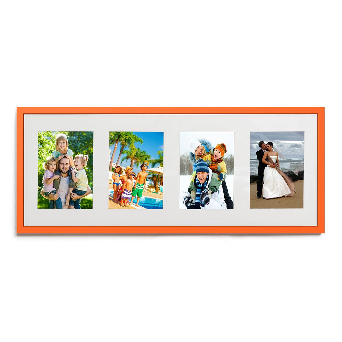 4er Galerierahmen 25x65 cm Orange