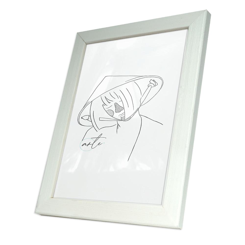 Multiframes Holzbilderrahmen Max 9x13 cm - Weiß | AllesRahmen.de