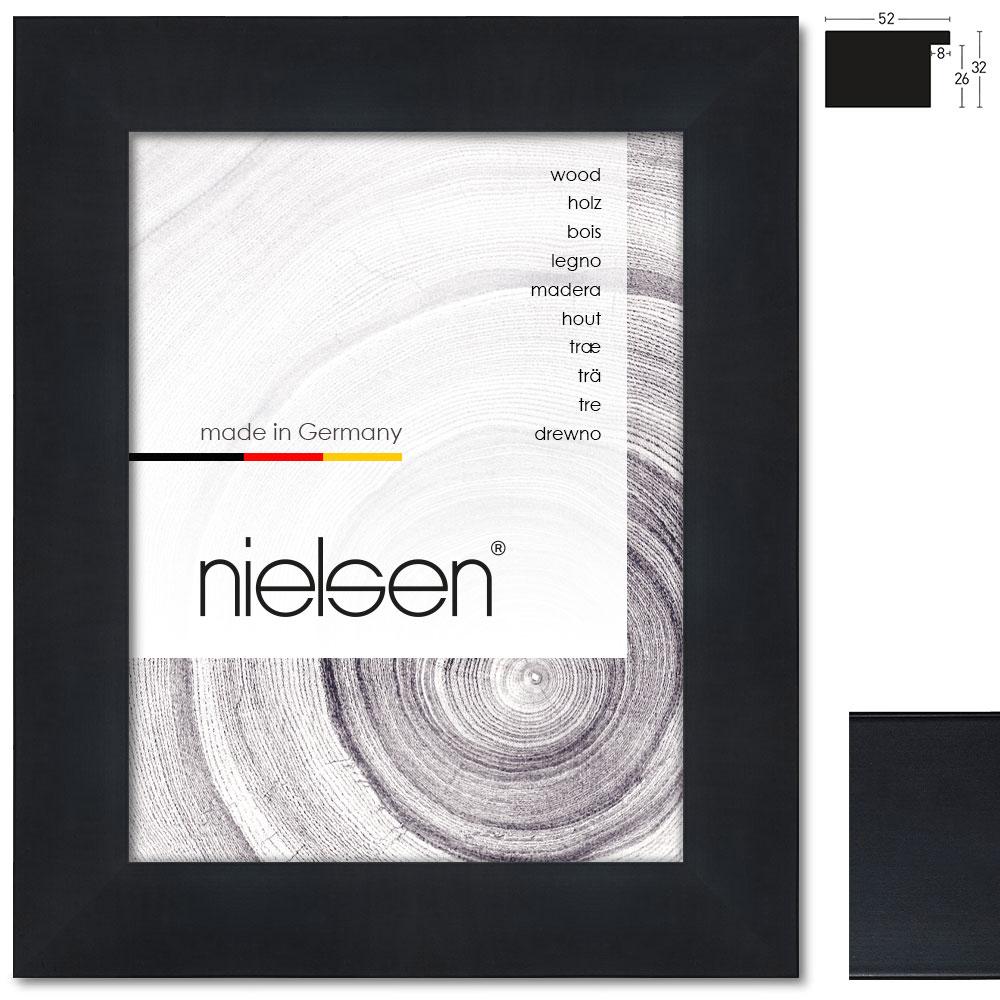 nielsen holzrahmen blackwoods 52 60x80 cm schwarz. Black Bedroom Furniture Sets. Home Design Ideas
