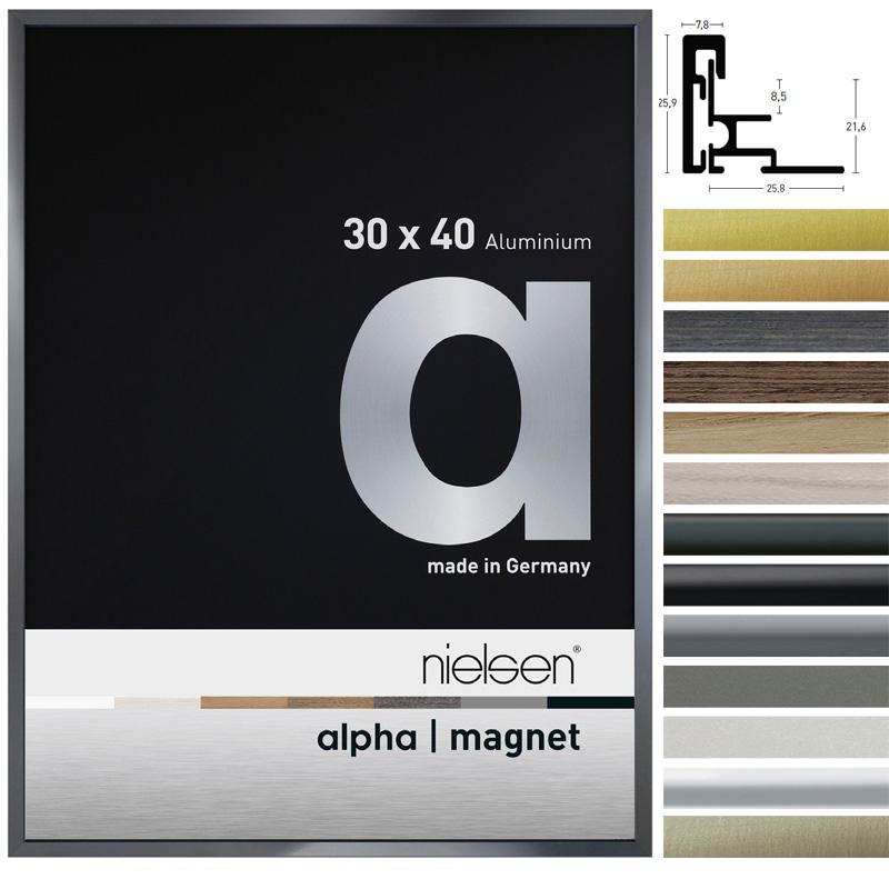 Alu-Bilderrahmen Alpha Magnet