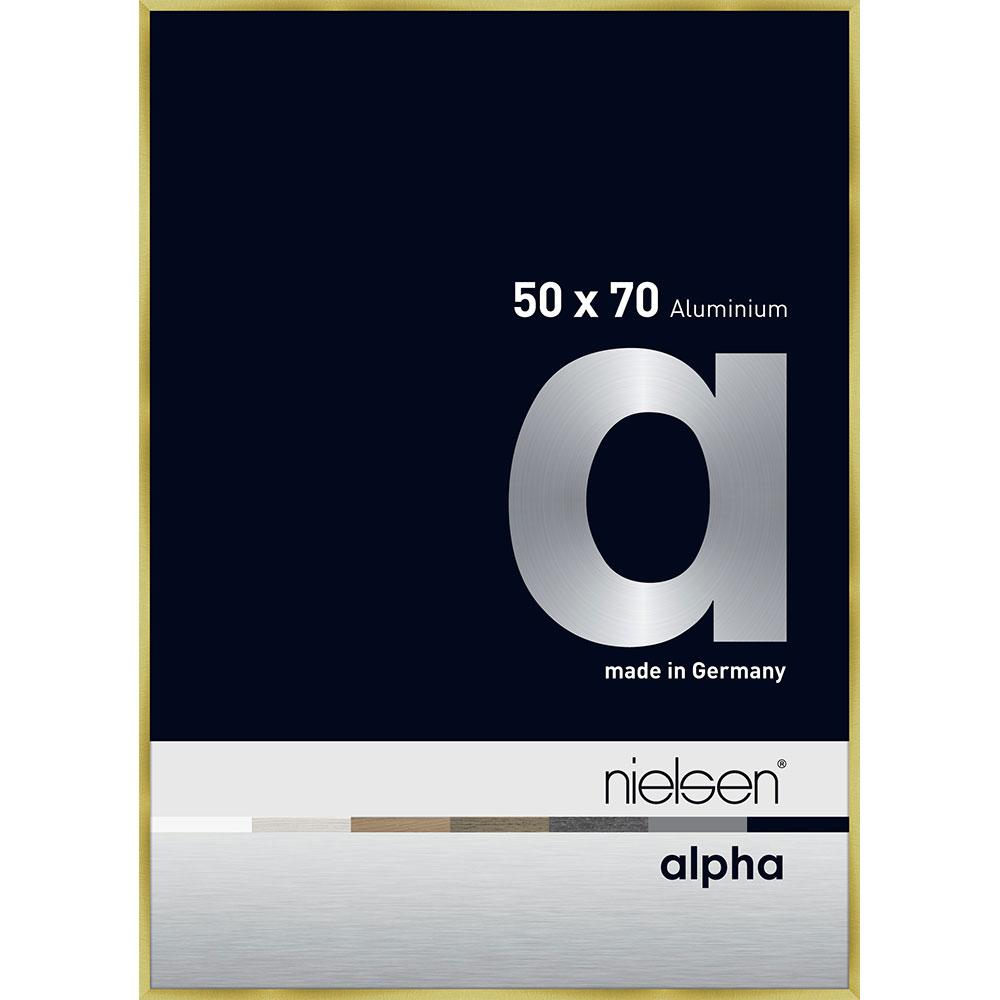 Alurahmen Alpha Brushed Gold 50x70 cm