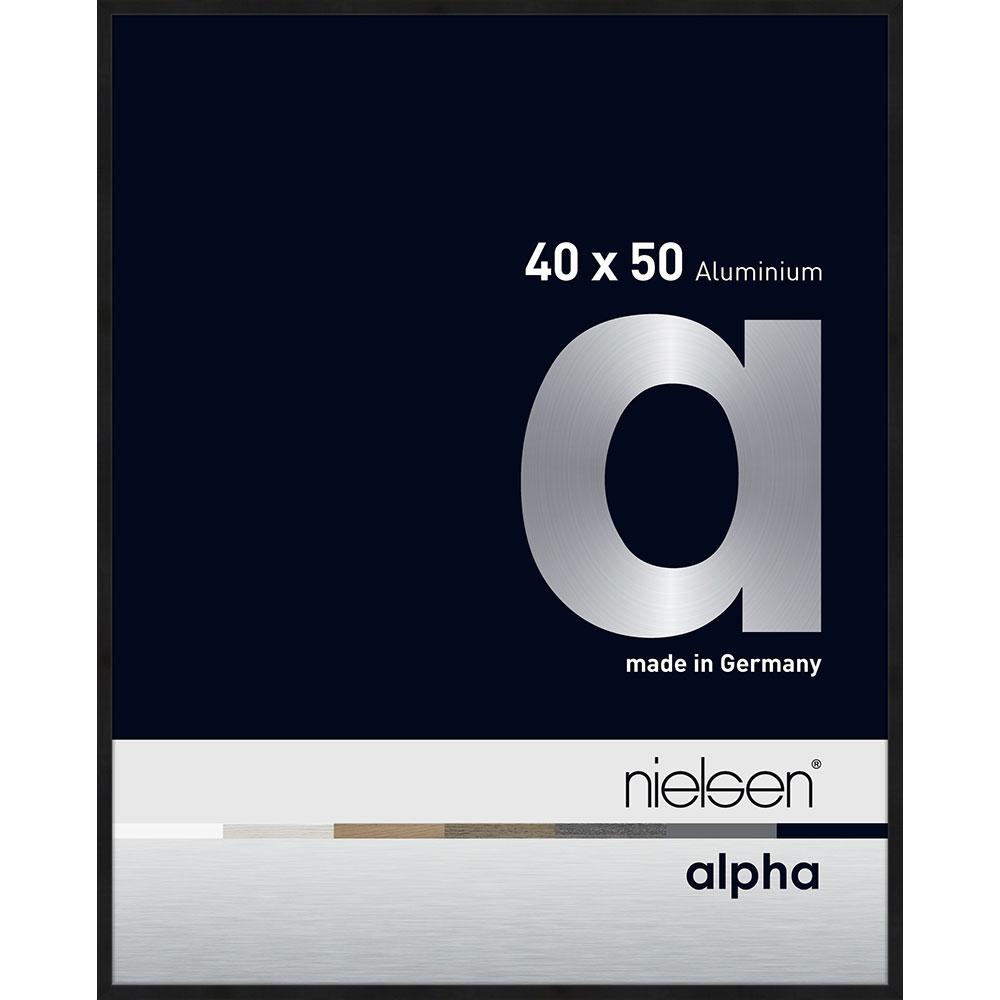 Alurahmen Alpha Schwarz matt eloxiert 40x50 cm