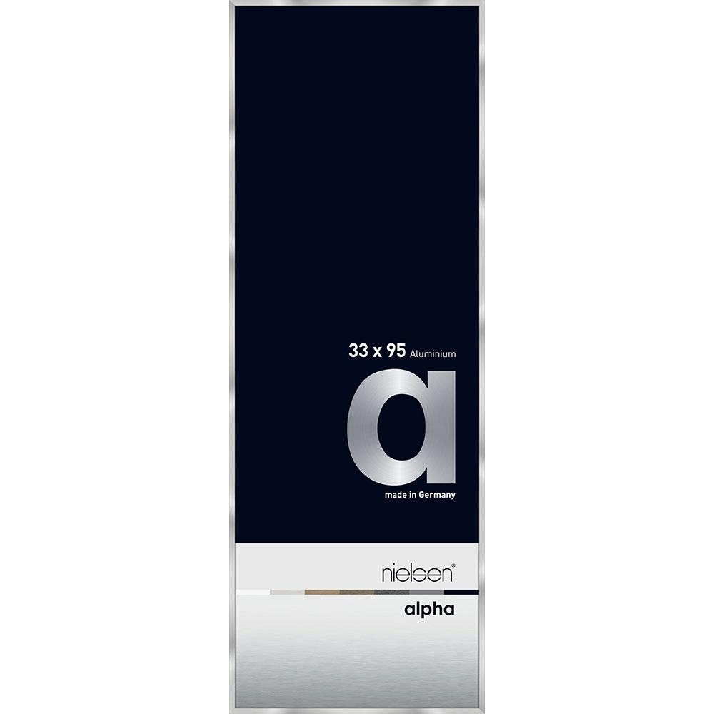 Alurahmen Alpha Silber 33x95 cm