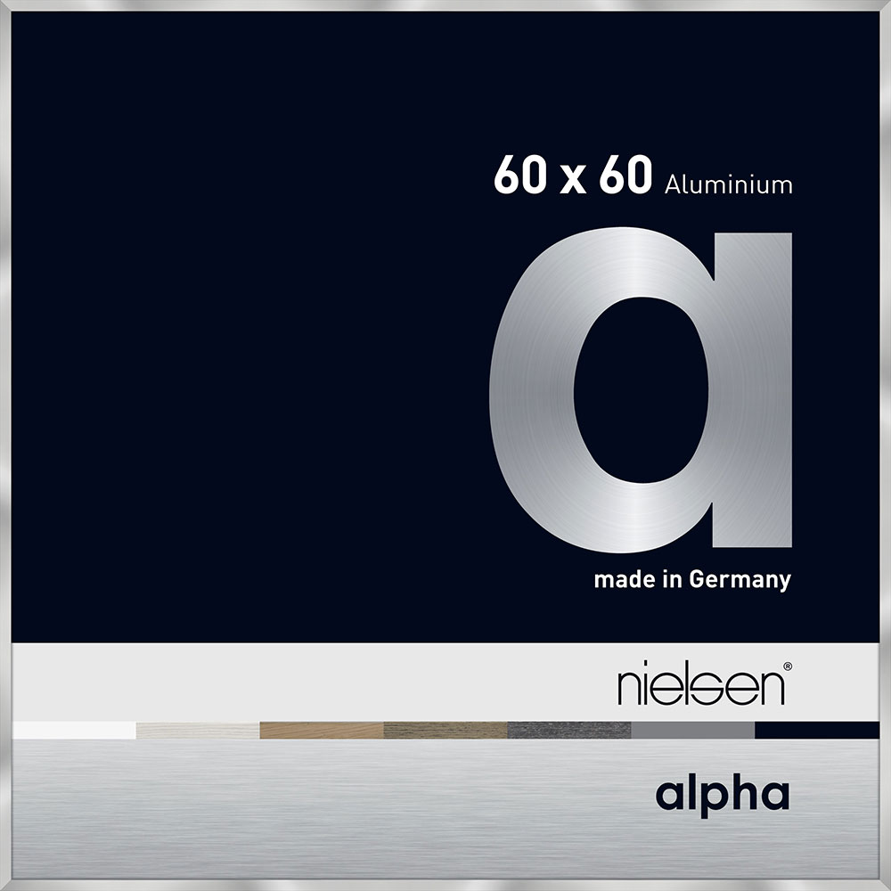 Alurahmen Alpha Silber 60x60 cm