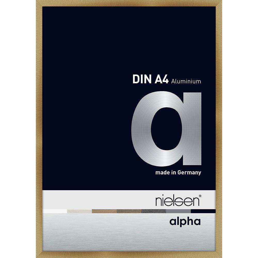 Alurahmen Profil alpha Brushed Amber 21x29,7 cm (A4)