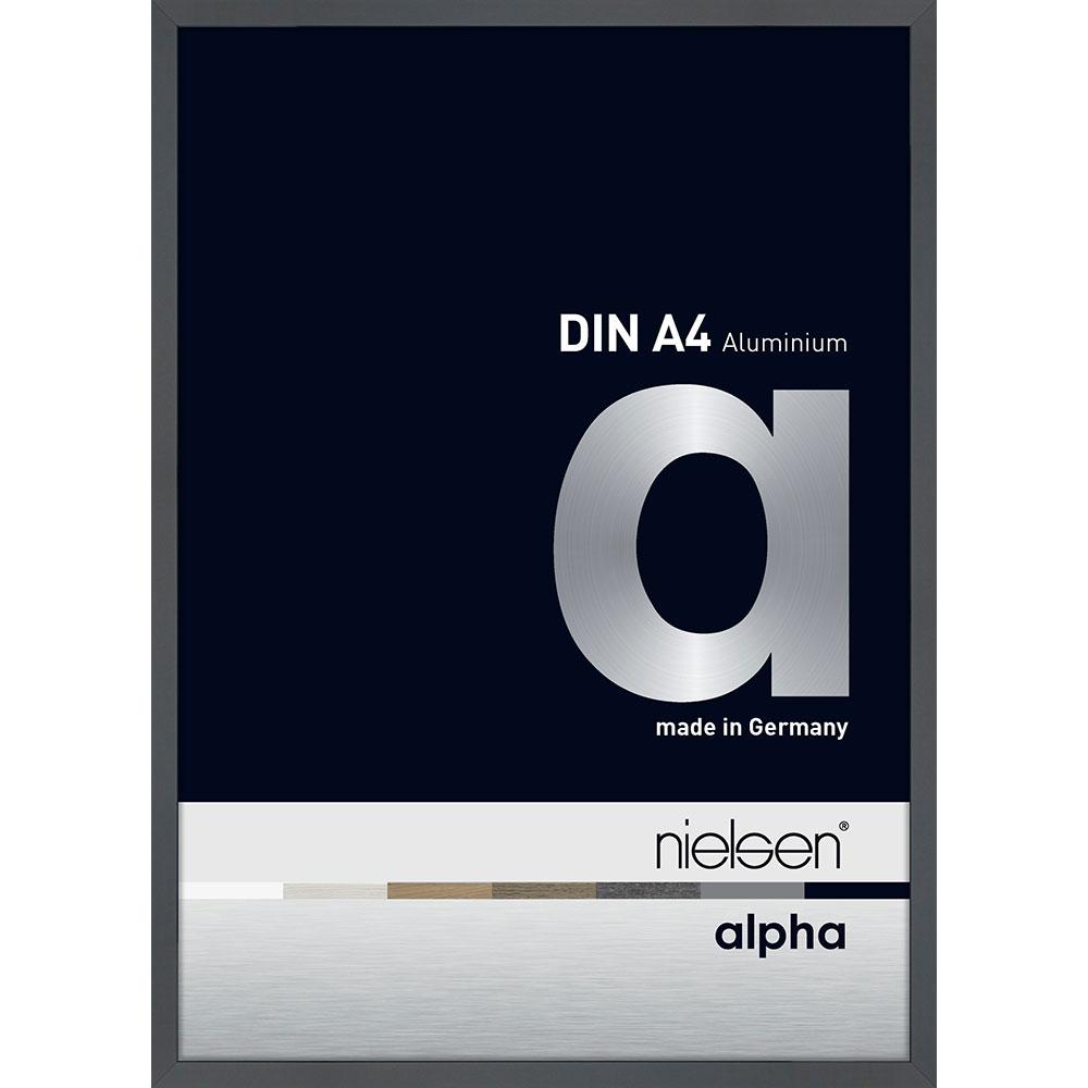Alurahmen Profil alpha Dunkelgrau glanz 21x29,7 cm (A4)