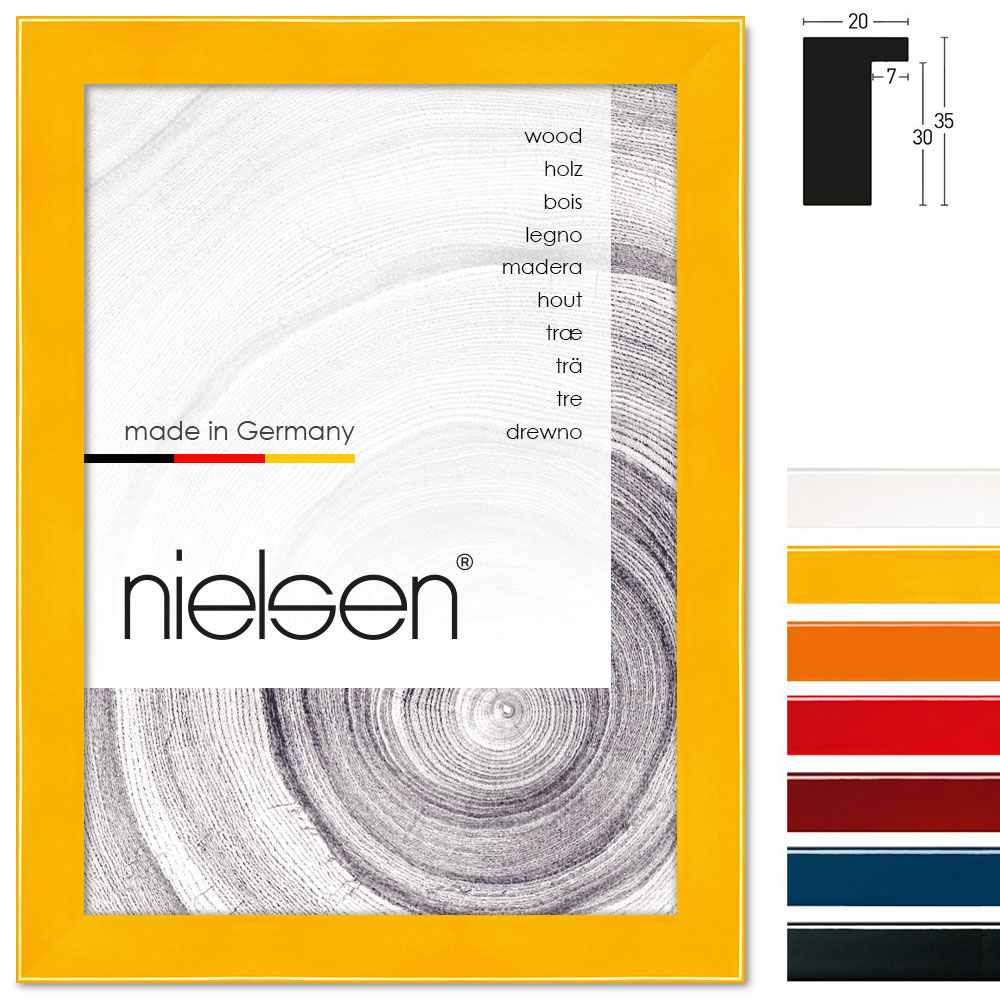 nielsen holzrahmen loft color 20 60x80 cm anthrazit. Black Bedroom Furniture Sets. Home Design Ideas