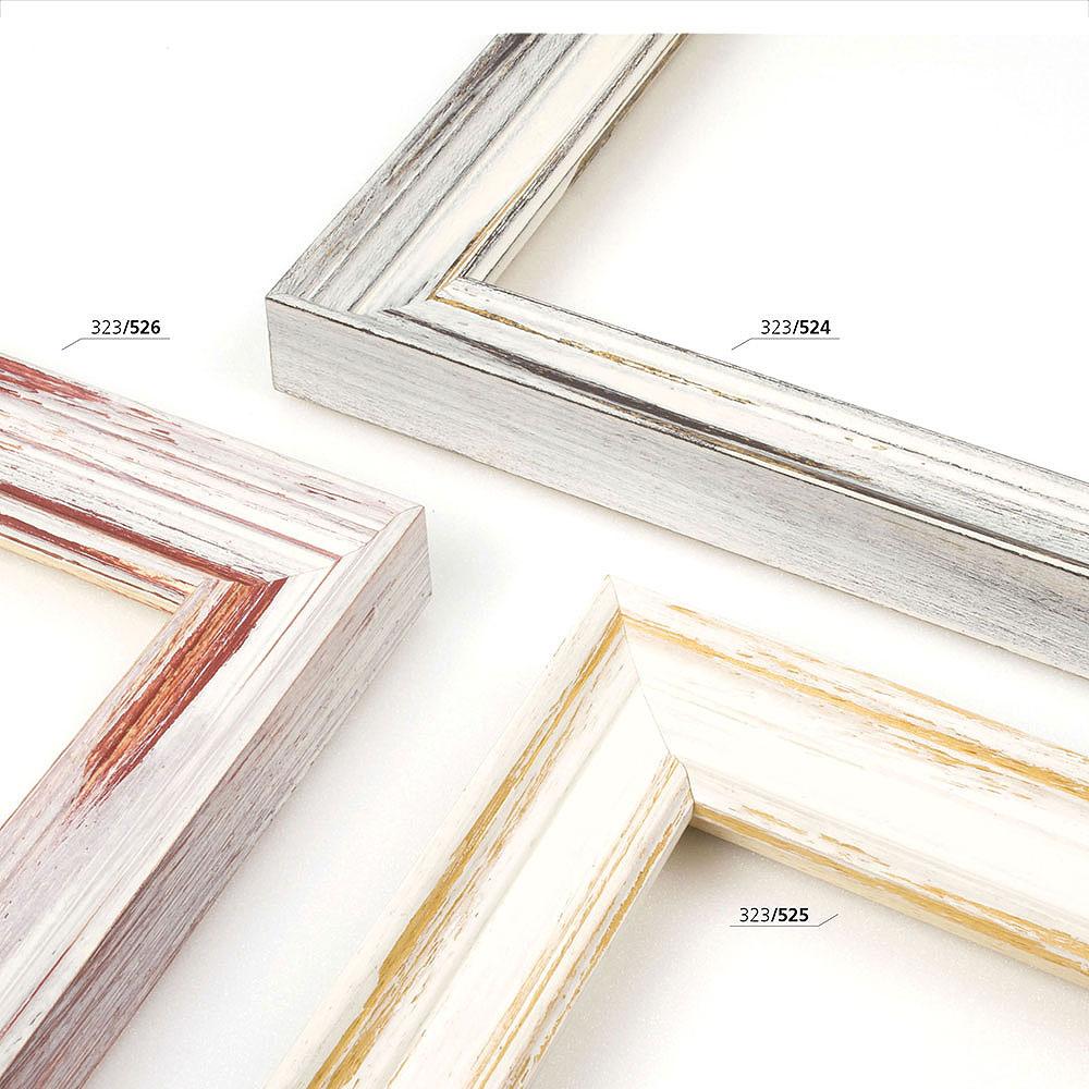 Holzrahmen Sonderzuschnitt, Eden 35 weiß-Braun