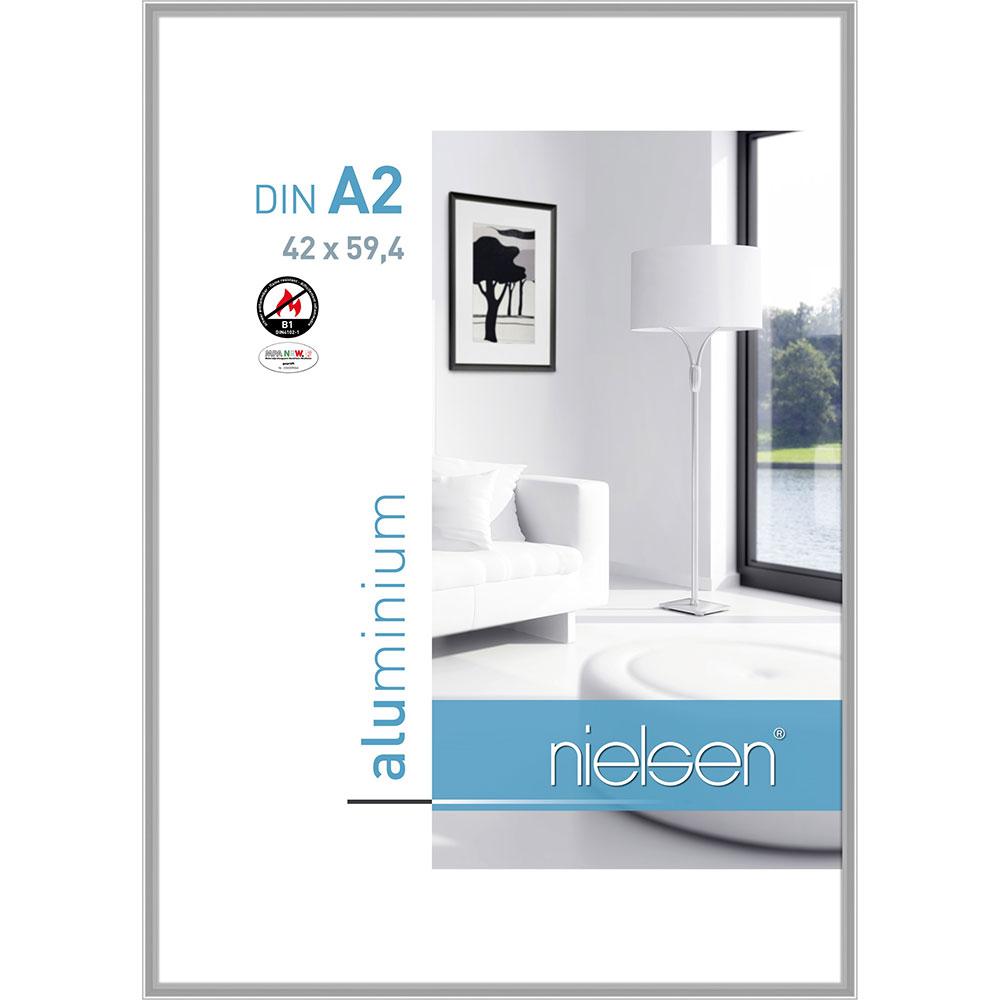 B1 Brandschutzrahmen Classic Silber glanz 42x59,4 cm (A2)