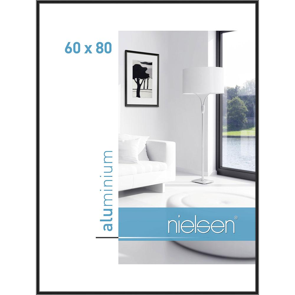 Alurahmen Classic Eloxiert Schwarz 60x80 cm