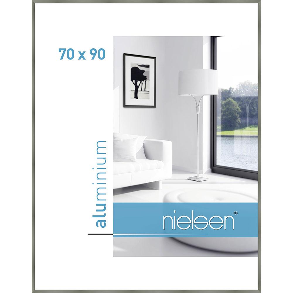 Alurahmen Classic Platin 70x90 cm