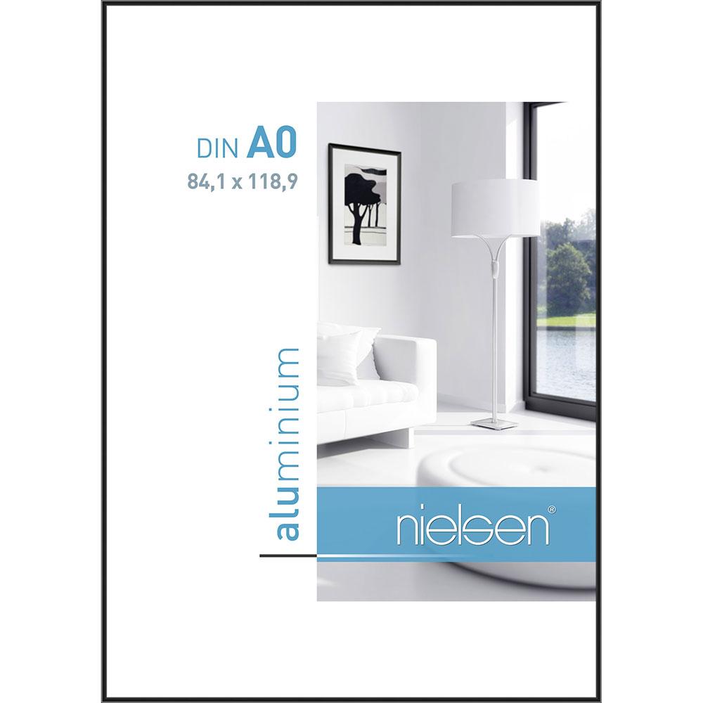 Alurahmen Classic Eloxiert Schwarz 84,1x118,9 cm (A0)