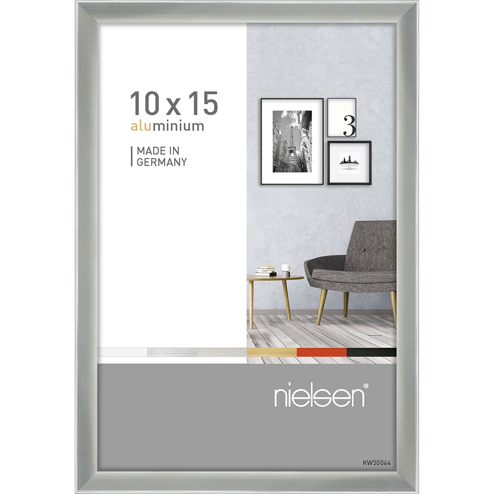 Alurahmen Pixel Silber glanz 10x15 cm