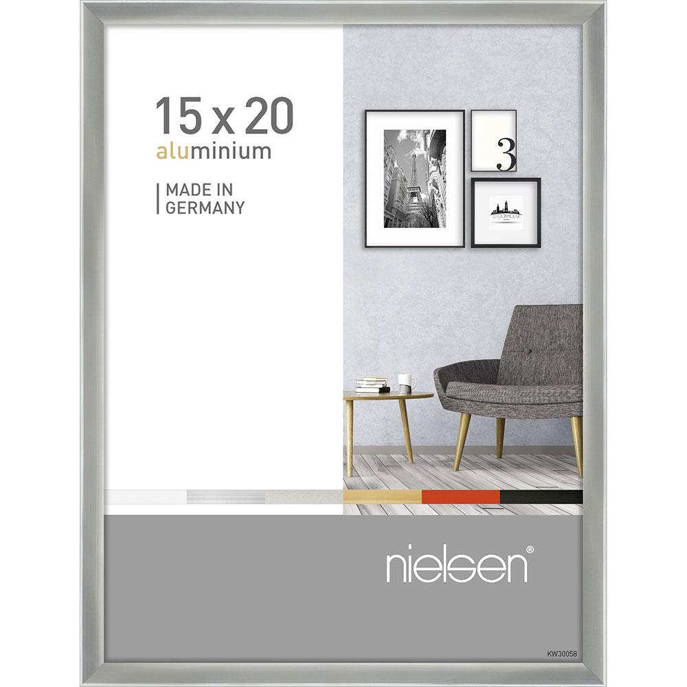 Alurahmen Pixel Silber glanz 15x20 cm
