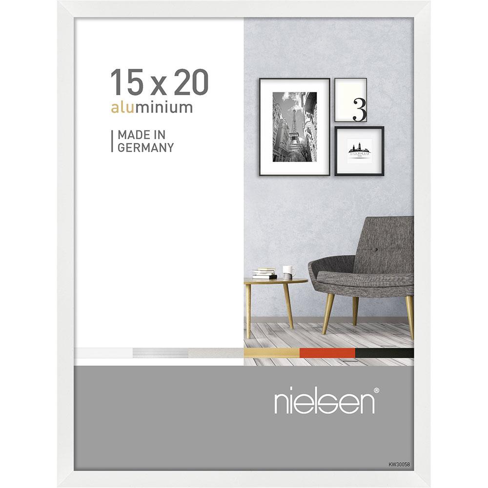 Alurahmen Pixel Weiß glanz 15x20 cm