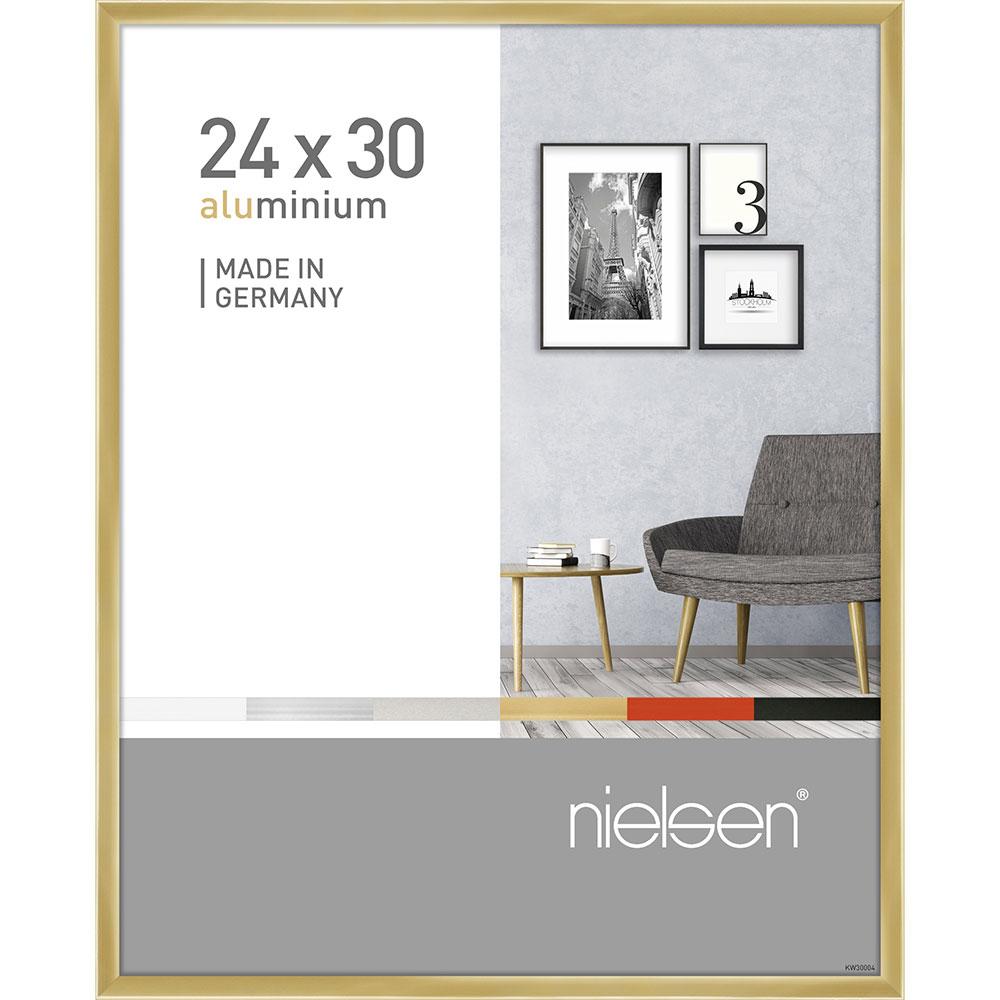 Alurahmen Pixel Gold glanz 24x30 cm