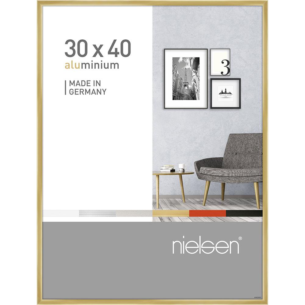 Alurahmen Pixel Gold glanz 30x40 cm