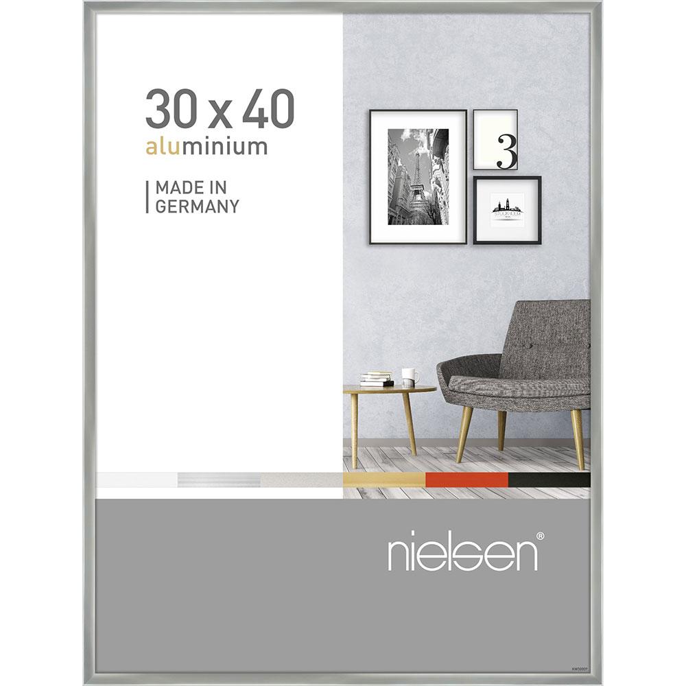 Alurahmen Pixel Silber glanz 30x40 cm