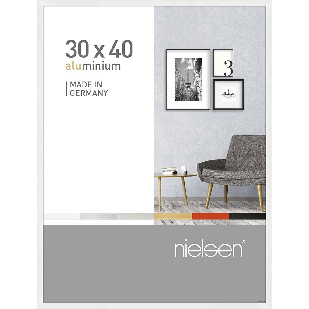 Alurahmen Pixel Weiß glanz 30x40 cm