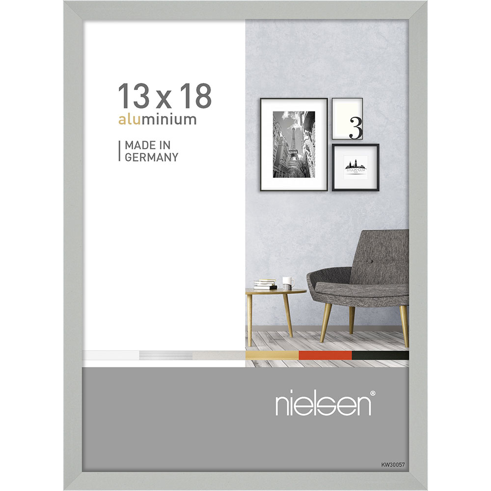 Alurahmen Pixel Silber matt 13x18 cm