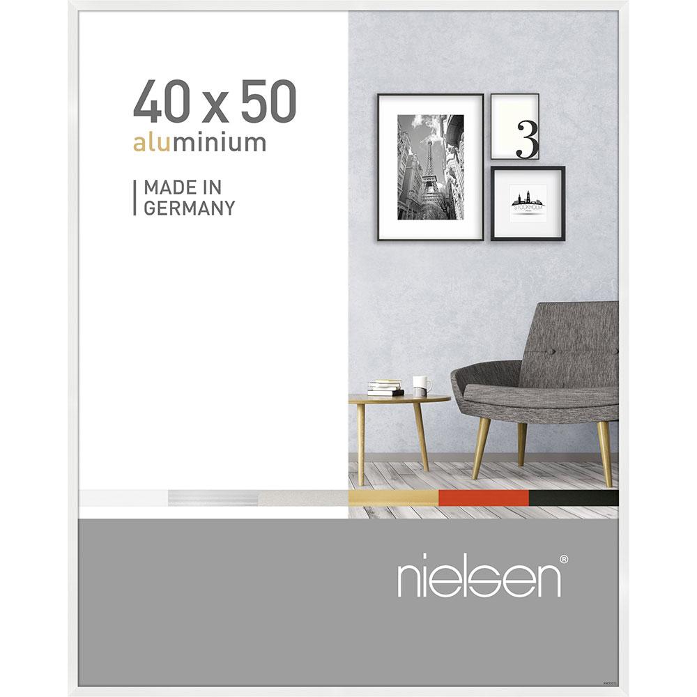 Alurahmen Pixel Weiß glanz 40x50 cm
