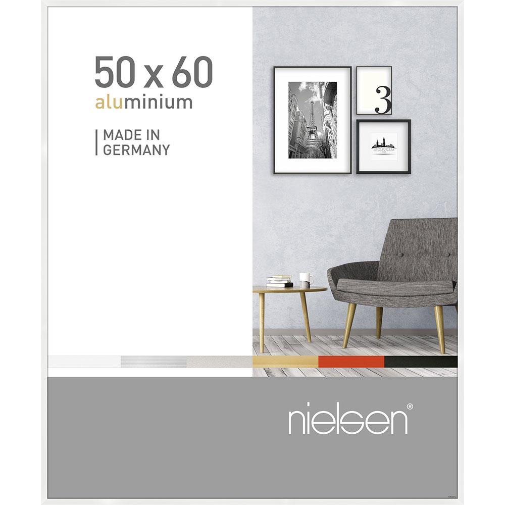 Alurahmen Pixel Weiß glanz 50x60 cm