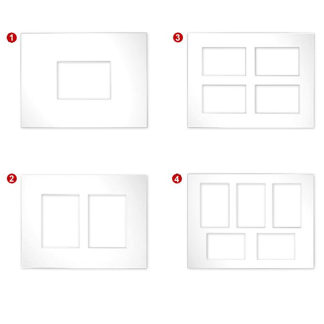 Galerie-Passepartouts 2,5 mm, Au�enformat 30x40
