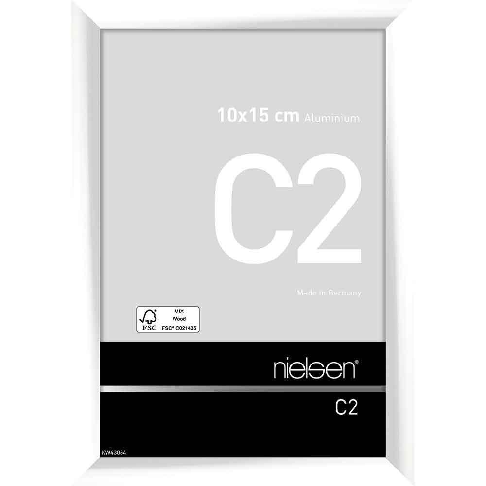 Alurahmen C2 Weiß glanz 10x15 cm