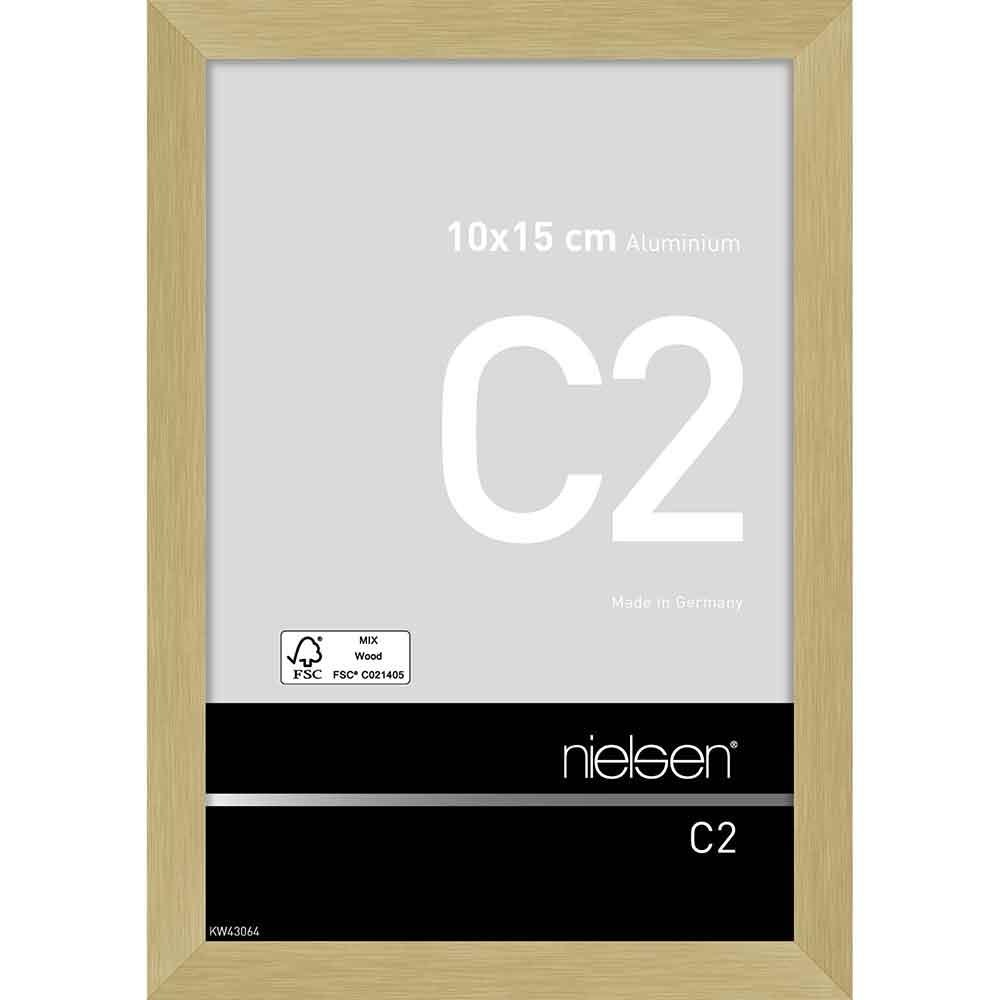 Alurahmen C2 Struktur Gold matt 10x15 cm