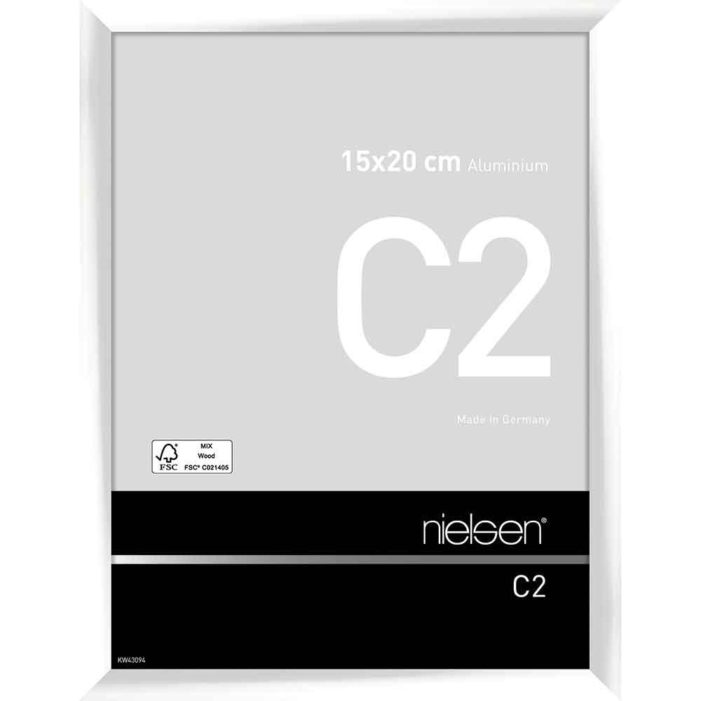 Alurahmen C2 Weiß glanz 15x20 cm