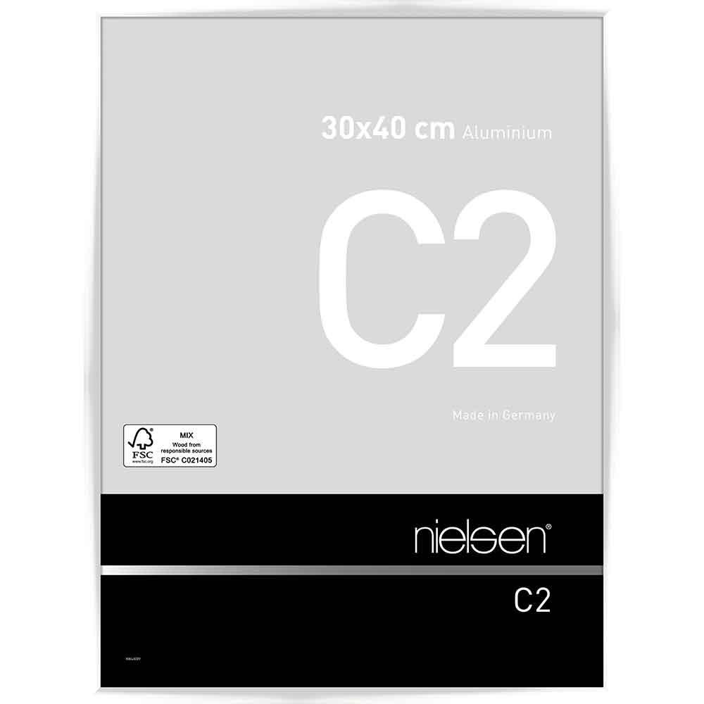 Alurahmen C2 Weiß glanz 30x40 cm