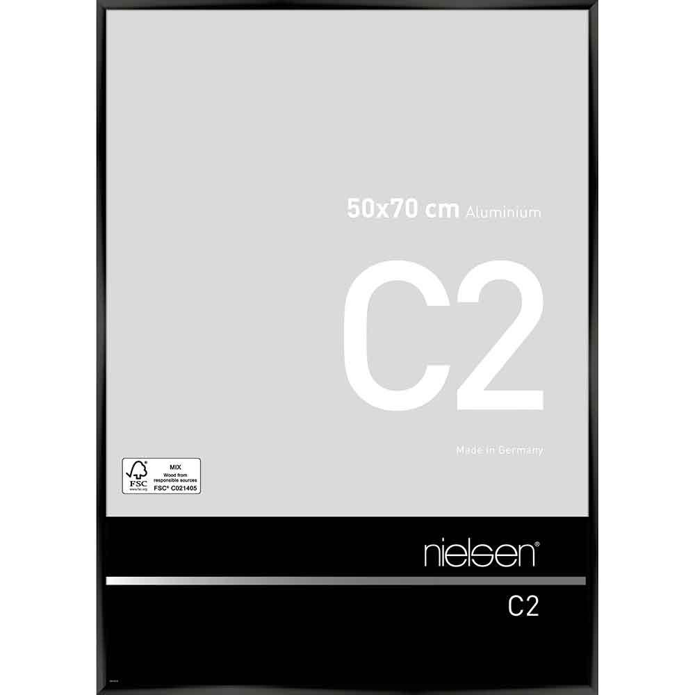 Alurahmen C2 Eloxal Schwarz glanz 50x70 cm