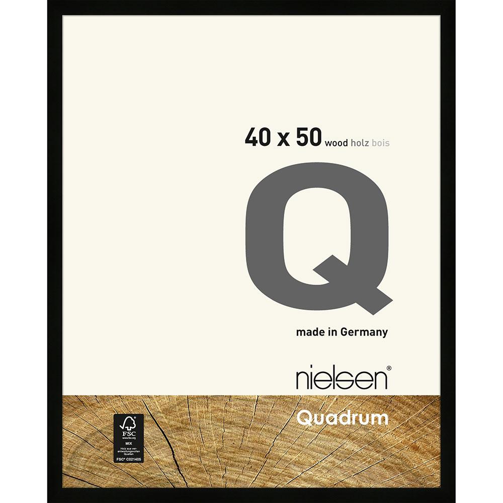 Holzrahmen Quadrum Schwarz 40x50 cm