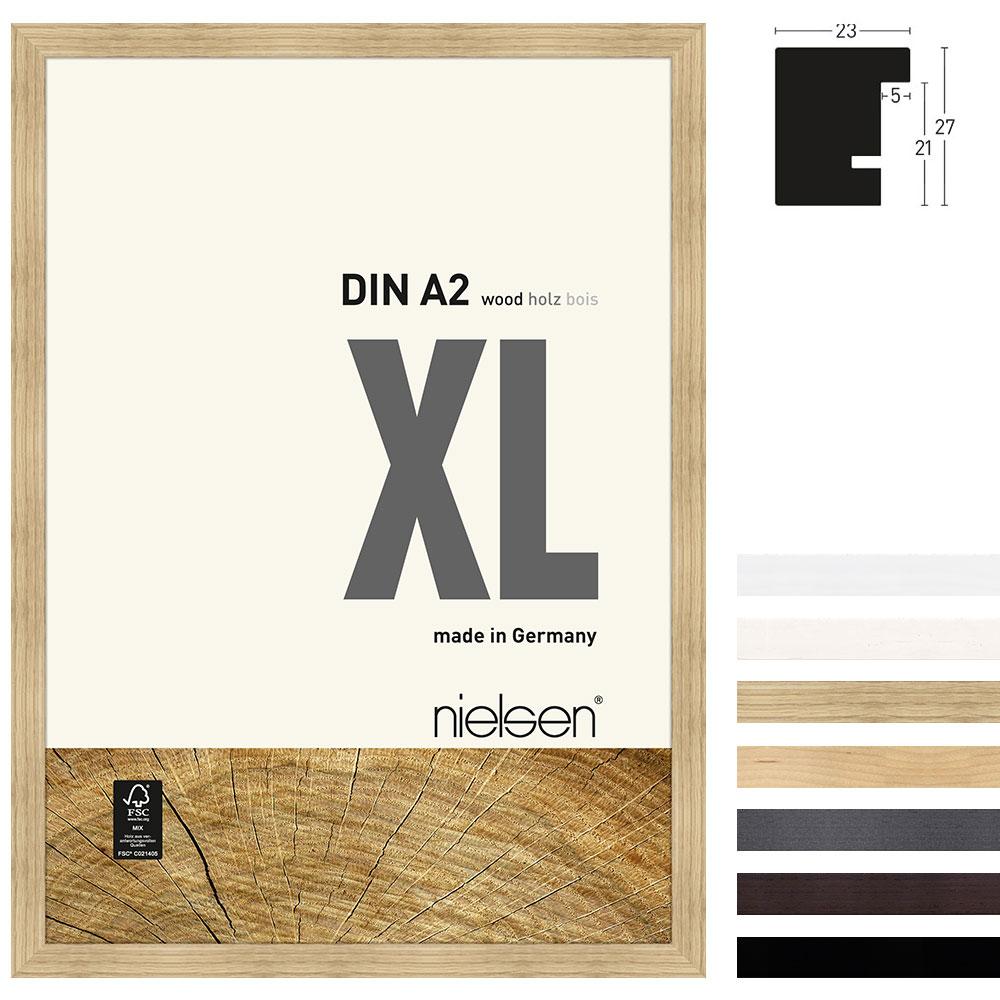 Nielsen Holzrahmen Quadrum XL 40x50 cm - Schwarz | AllesRahmen.de