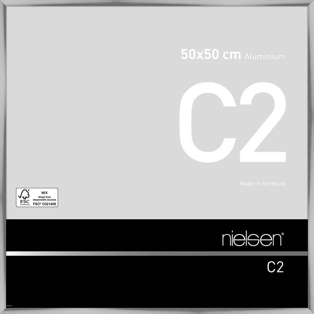 Alurahmen C2 Silber glanz 50x50 cm