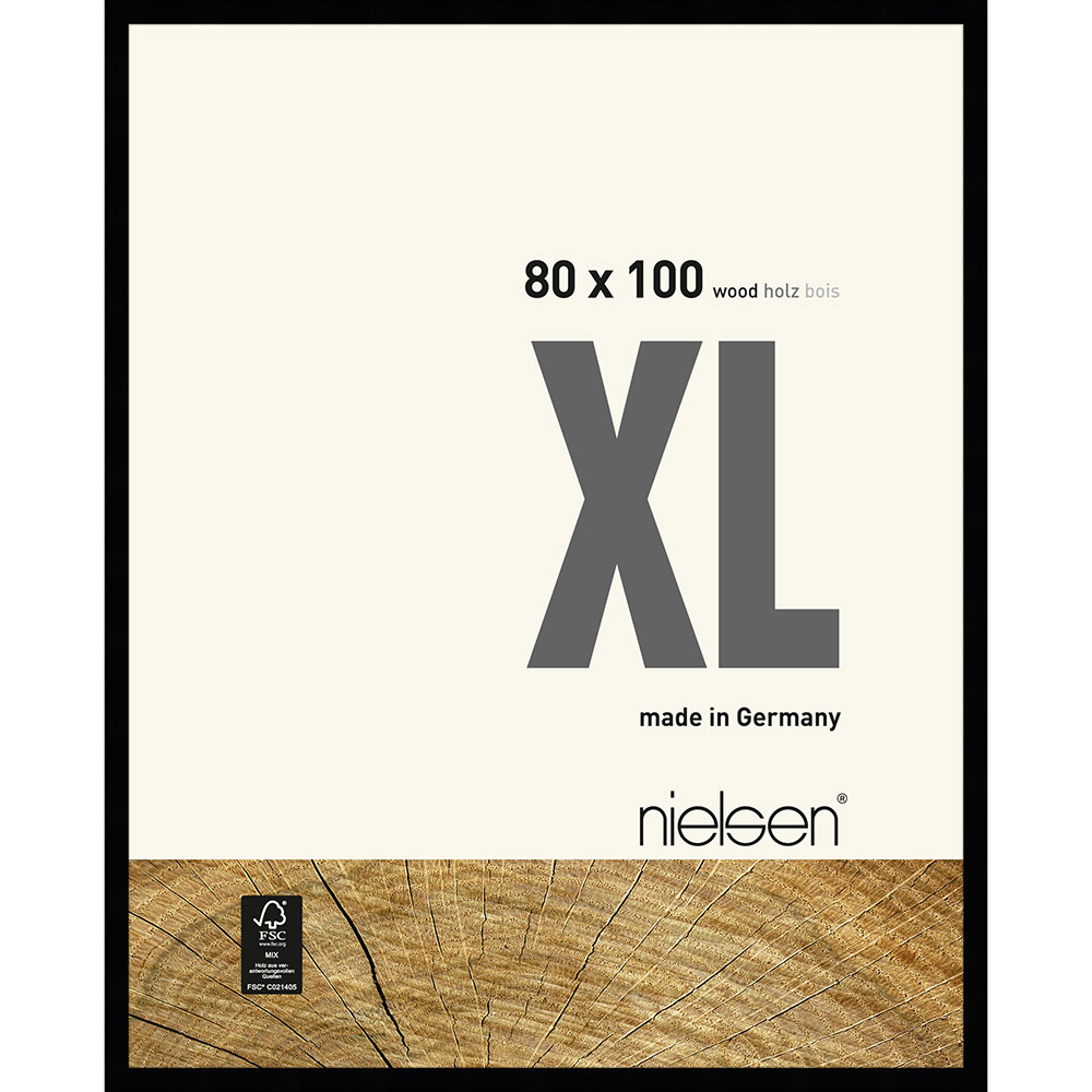 Holzrahmen XL Schwarz 80x100 cm