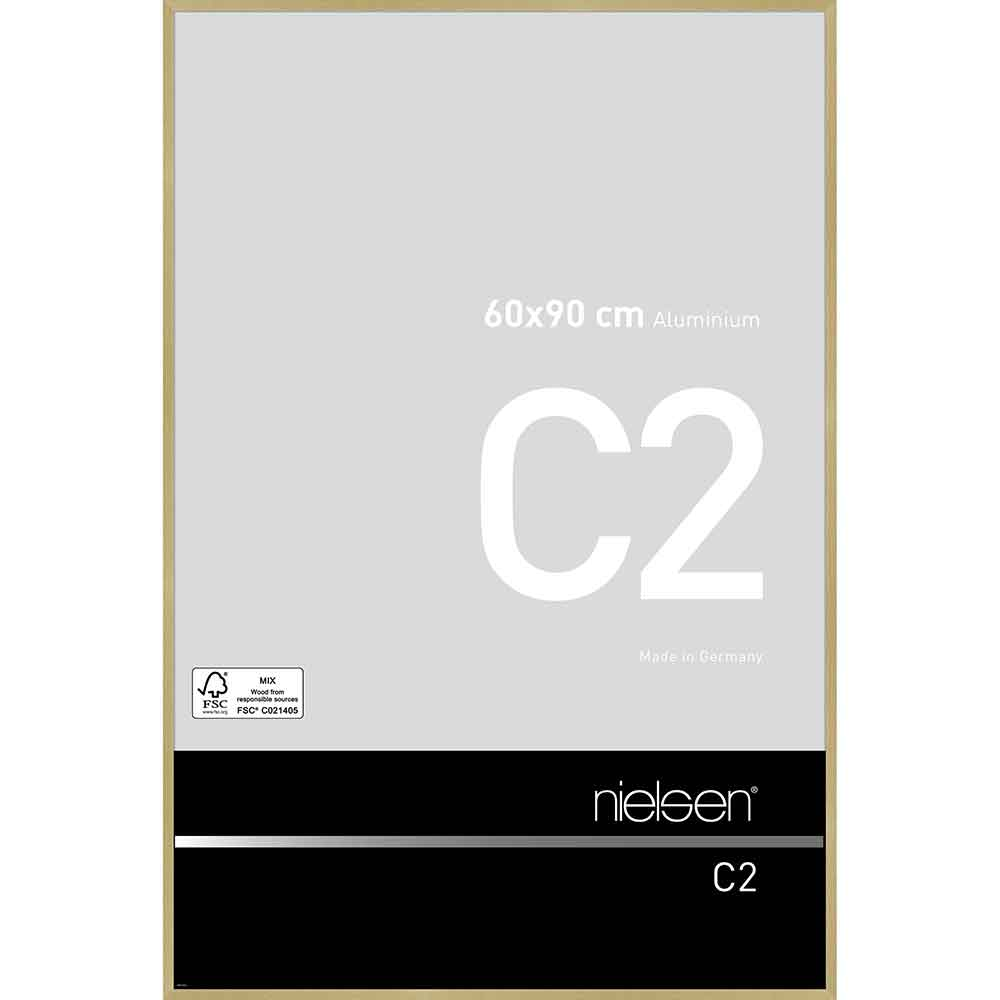 Alurahmen C2 Struktur Gold matt 60x90 cm