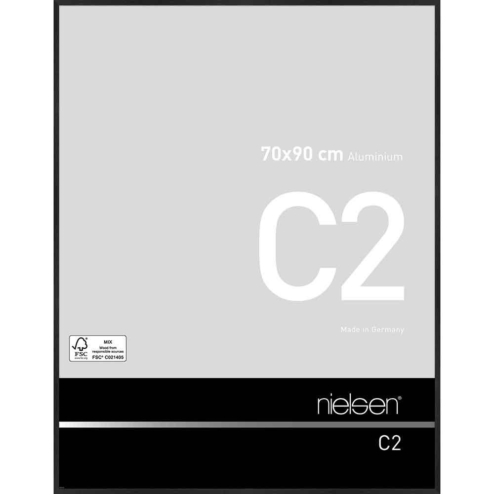 Nielsen Alurahmen C2 18x24 cm struktur schwarz matt