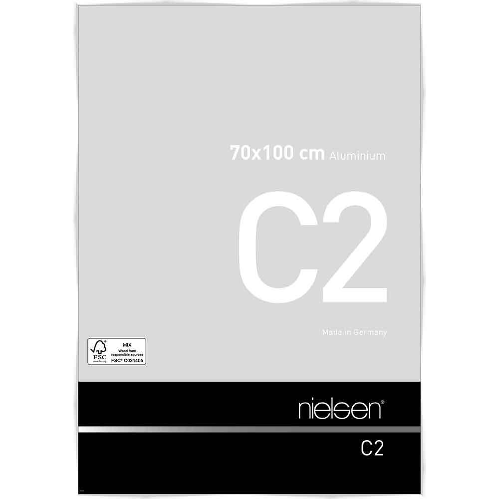 Alurahmen C2 Weiß glanz 70x100 cm