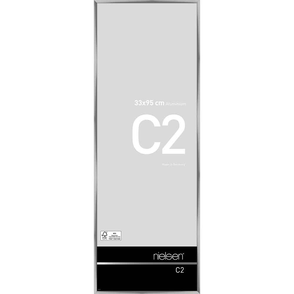 Alurahmen C2 Silber glanz 33x95 cm