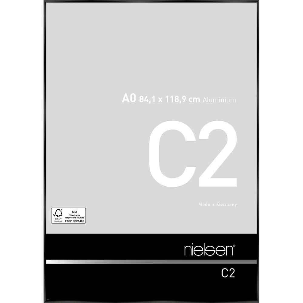 Alurahmen C2 Eloxal Schwarz glanz 84,1x118,9 cm (A0)