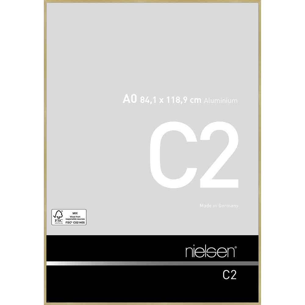 Alurahmen C2 Struktur Gold matt 84,1x118,9 cm (A0)