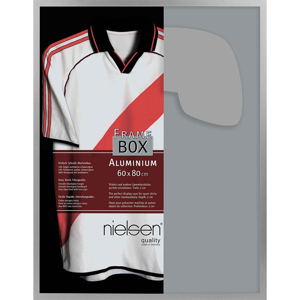 FrameBox II - Bilderrahmen für Trikots Silber matt 60x80 cm