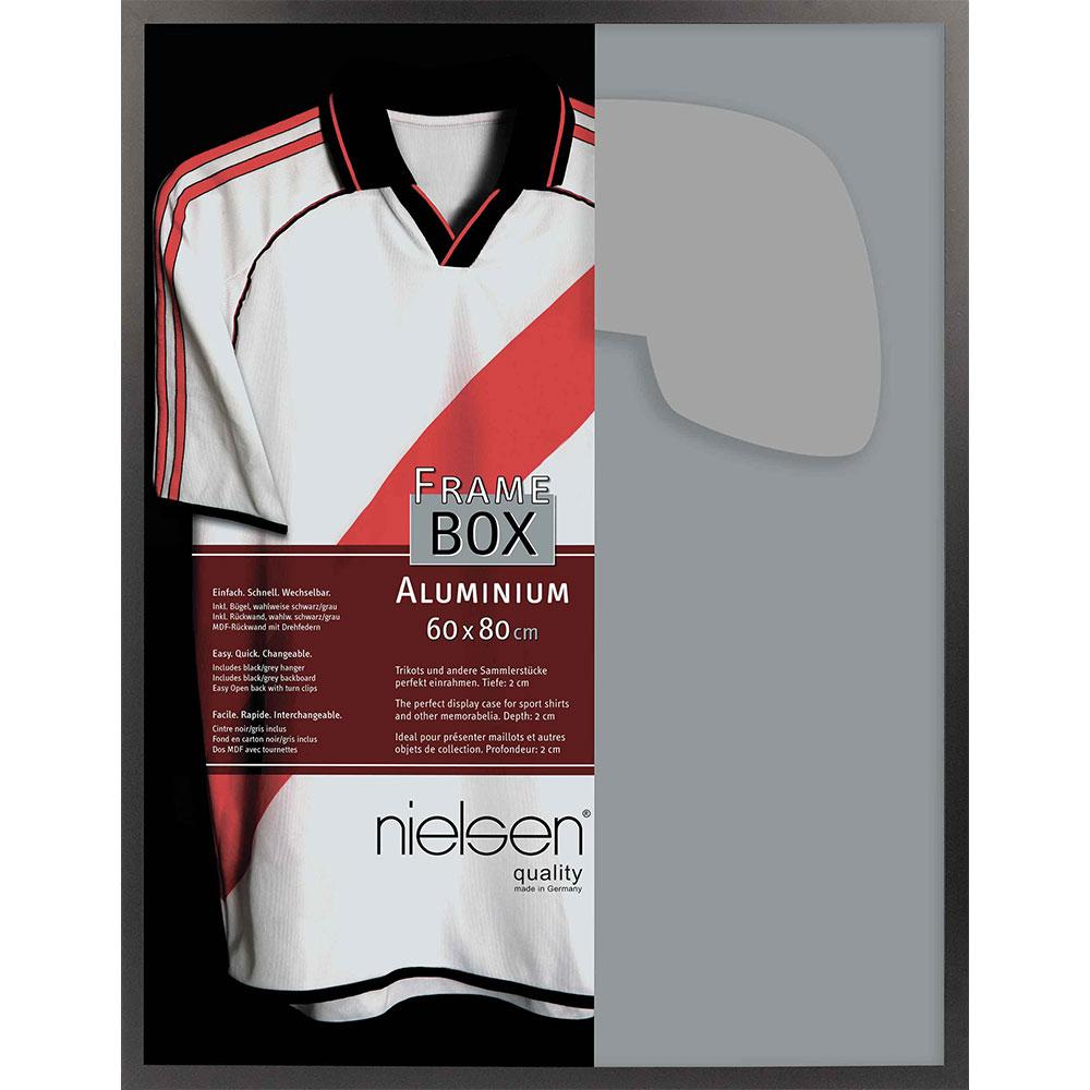 FrameBox II - Bilderrahmen für Trikots Schwarz matt 60x80 cm
