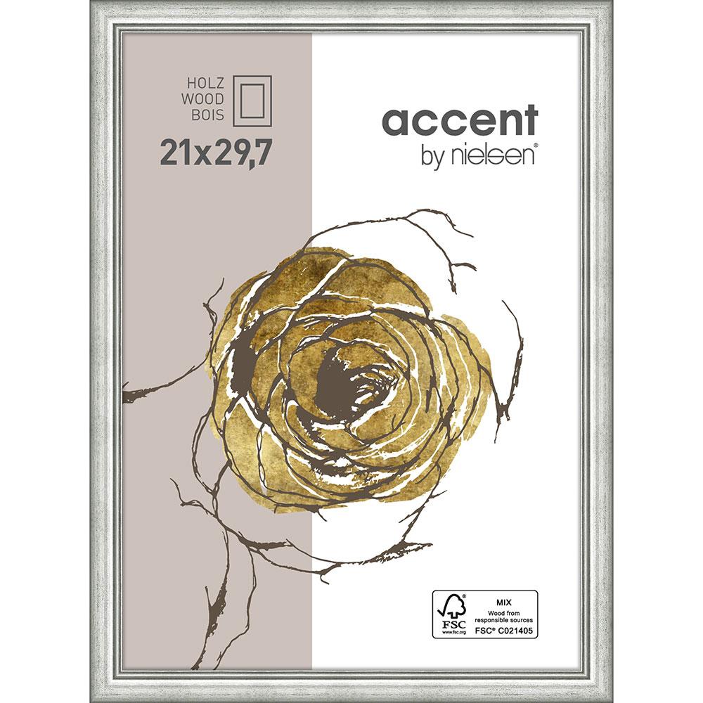 Holzrahmen Ascot Silber 21x29,7 cm (A4)