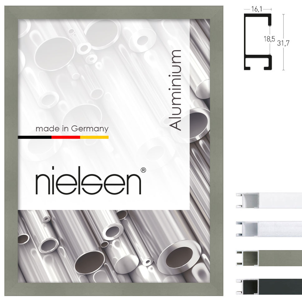 nielsen alurahmen profil 94 70x100 cm wei matt. Black Bedroom Furniture Sets. Home Design Ideas